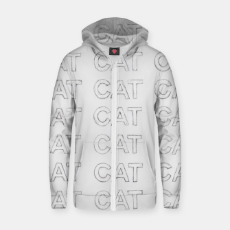 Thumbnail image of Grey cats Zip up hoodie, Live Heroes