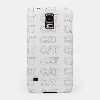 Miniatur Grey cats Samsung Case, Live Heroes