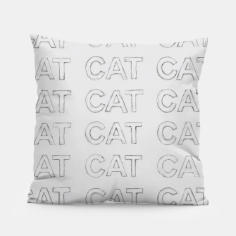 Miniatur Grey cats Pillow, Live Heroes