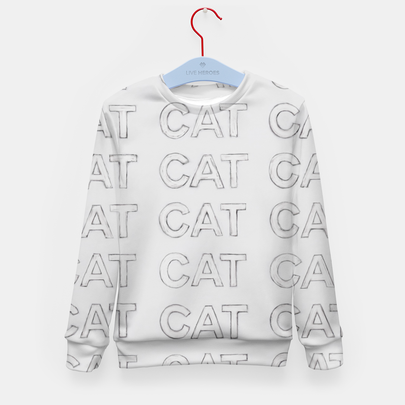 Image of Grey cats Kid's sweater - Live Heroes