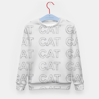 Miniatur Grey cats Kid's sweater, Live Heroes