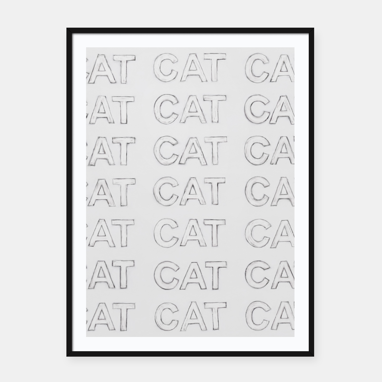 Image of Grey cats Framed poster - Live Heroes
