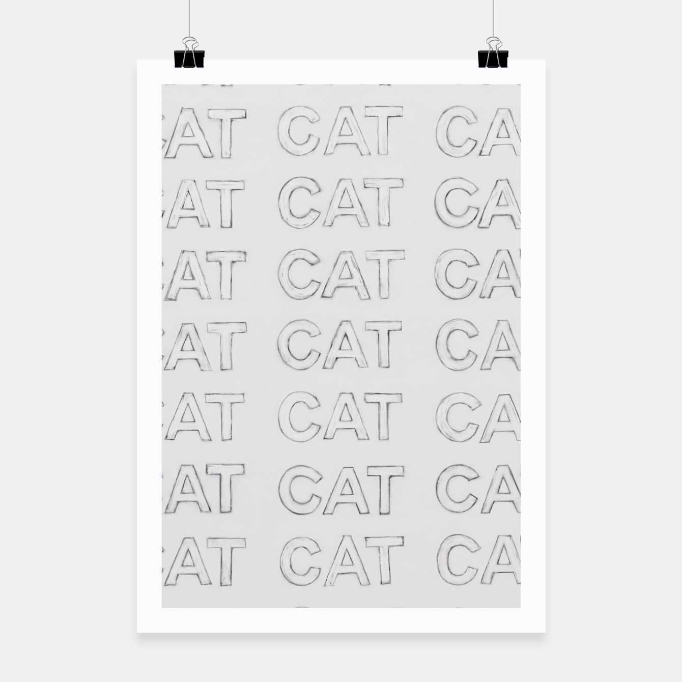 Image of Grey cats Poster - Live Heroes