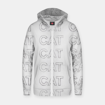 Grey cats Zip up hoodie thumbnail image