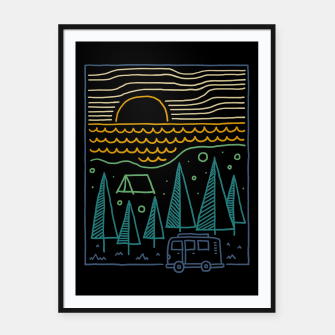 Thumbnail image of Camp River Framed poster, Live Heroes