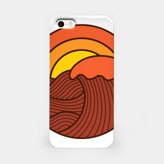 Miniatur Sunset Cyrcle iPhone Case, Live Heroes