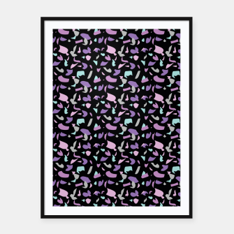 Terrazzo pattern black  Framed poster thumbnail image