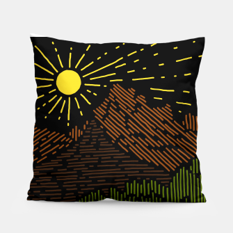 Thumbnail image of Mountain Line Pillow, Live Heroes