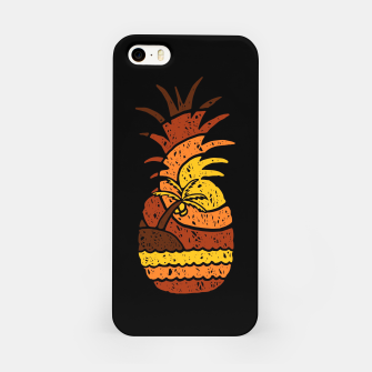 Miniatur Pineapple and Beach iPhone Case, Live Heroes