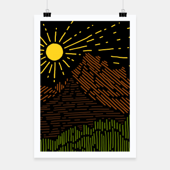 Thumbnail image of Mountain Line Poster, Live Heroes