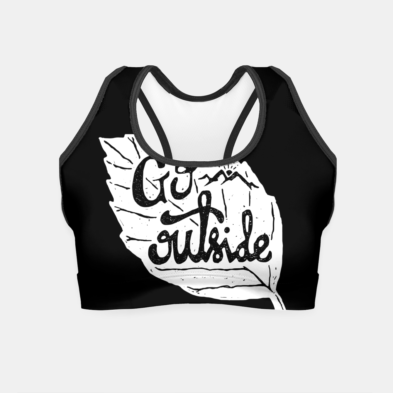 Image de Go Outside Crop Top - Live Heroes