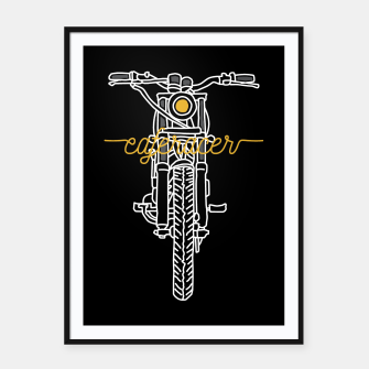Thumbnail image of Caferacer Framed poster, Live Heroes