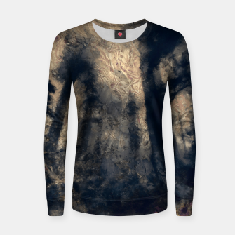 Thumbnail image of abstract misty forest painting hvhdall Women sweater, Live Heroes