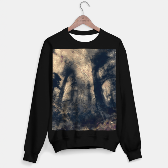 Thumbnail image of abstract misty forest painting hvhdall Sweater regular, Live Heroes