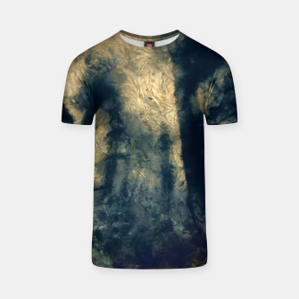 Thumbnail image of abstract misty forest painting hvhdfn T-shirt, Live Heroes