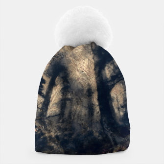 Thumbnail image of abstract misty forest painting hvhdall Beanie, Live Heroes