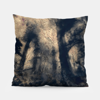 Thumbnail image of abstract misty forest painting hvhdall Pillow, Live Heroes