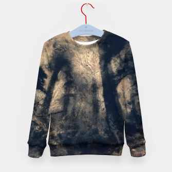 Thumbnail image of abstract misty forest painting hvhdall Kid's sweater, Live Heroes