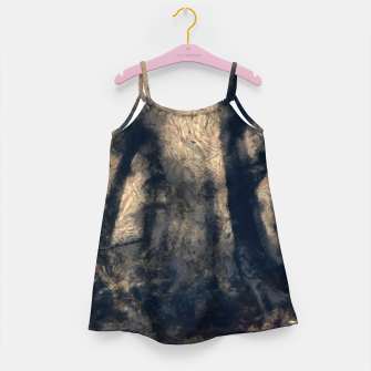 Thumbnail image of abstract misty forest painting hvhdall Girl's dress, Live Heroes
