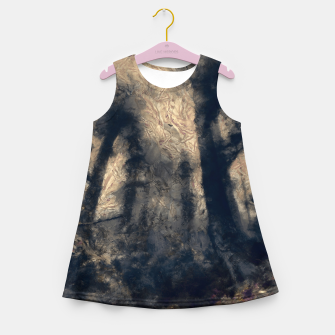 Thumbnail image of abstract misty forest painting hvhdall Girl's summer dress, Live Heroes