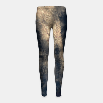 Thumbnail image of abstract misty forest painting hvhdall Girl's leggings, Live Heroes