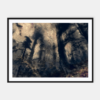 Thumbnail image of abstract misty forest painting hvhdall Framed poster, Live Heroes