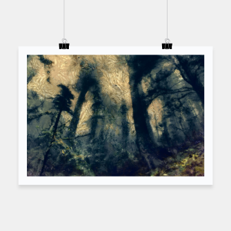 Thumbnail image of abstract misty forest painting hvhdfn Poster, Live Heroes