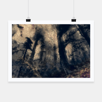 Thumbnail image of abstract misty forest painting hvhdall Poster, Live Heroes