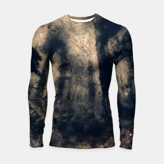 Thumbnail image of abstract misty forest painting hvhdall Longsleeve rashguard , Live Heroes