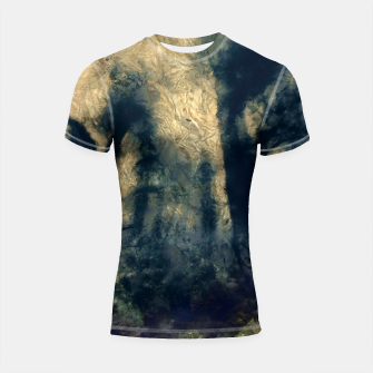 Thumbnail image of abstract misty forest painting hvhdfn Shortsleeve rashguard, Live Heroes