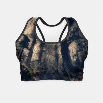 Thumbnail image of abstract misty forest painting hvhdall Crop Top, Live Heroes