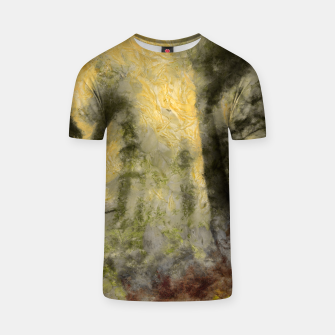 Thumbnail image of abstract misty forest painting hvhdsepia T-shirt, Live Heroes