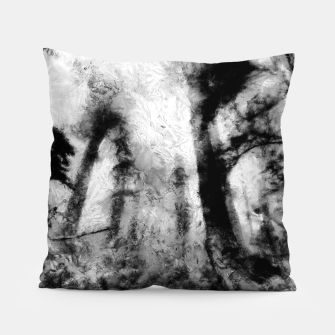 Thumbnail image of abstract misty forest painting hvhdbw Pillow, Live Heroes