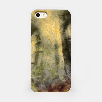 Miniature de image de abstract misty forest painting hvhdsepia iPhone Case, Live Heroes