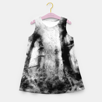 Thumbnail image of abstract misty forest painting hvhdbw Girl's summer dress, Live Heroes