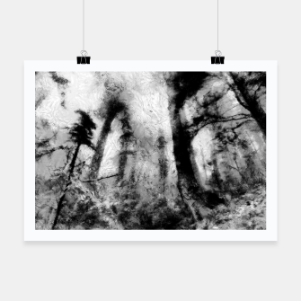 Thumbnail image of abstract misty forest painting hvhdbw Poster, Live Heroes