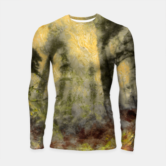 Thumbnail image of abstract misty forest painting hvhdsepia Longsleeve rashguard , Live Heroes