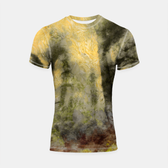 Thumbnail image of abstract misty forest painting hvhdsepia Shortsleeve rashguard, Live Heroes