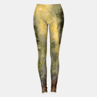 Thumbnail image of abstract misty forest painting hvhdsepia Leggings, Live Heroes