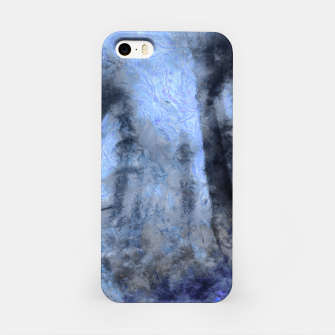 Miniature de image de abstract misty forest painting hvhdc80 iPhone Case, Live Heroes