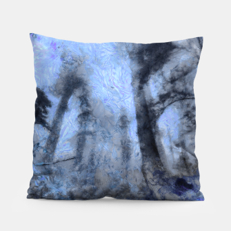 Thumbnail image of abstract misty forest painting hvhdc80 Pillow, Live Heroes