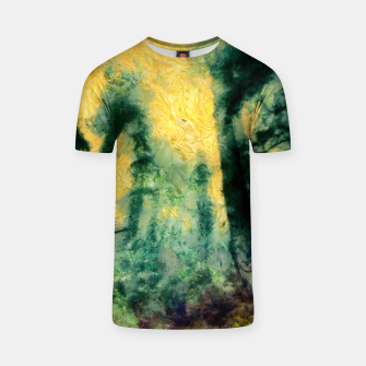 Thumbnail image of abstract misty forest painting hvhdtop T-shirt, Live Heroes