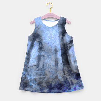 Thumbnail image of abstract misty forest painting hvhdc80 Girl's summer dress, Live Heroes