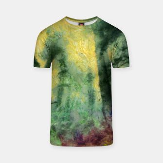 Thumbnail image of abstract misty forest painting hvhdstd T-shirt, Live Heroes