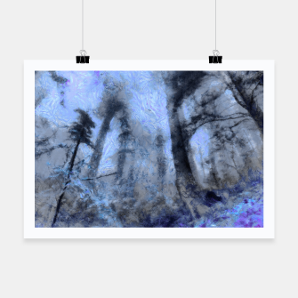 Thumbnail image of abstract misty forest painting hvhdc80 Poster, Live Heroes