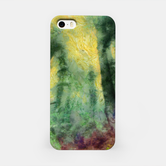 Miniatur abstract misty forest painting hvhdstd iPhone Case, Live Heroes