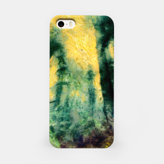Miniatur abstract misty forest painting hvhdtop iPhone Case, Live Heroes