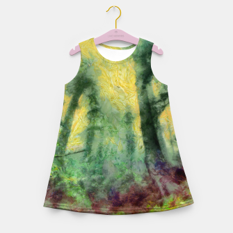 Thumbnail image of abstract misty forest painting hvhdstd Girl's summer dress, Live Heroes
