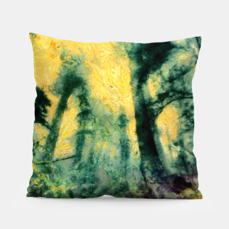 Thumbnail image of abstract misty forest painting hvhdtop Pillow, Live Heroes