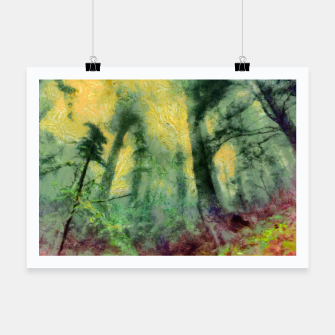 Thumbnail image of abstract misty forest painting hvhdstd Poster, Live Heroes